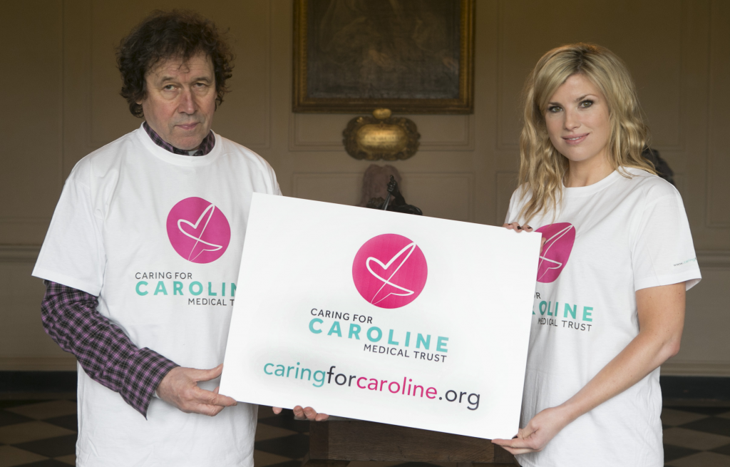 Ambassadors for Caring for Caroline Stephen Rea and Jenny Buckley