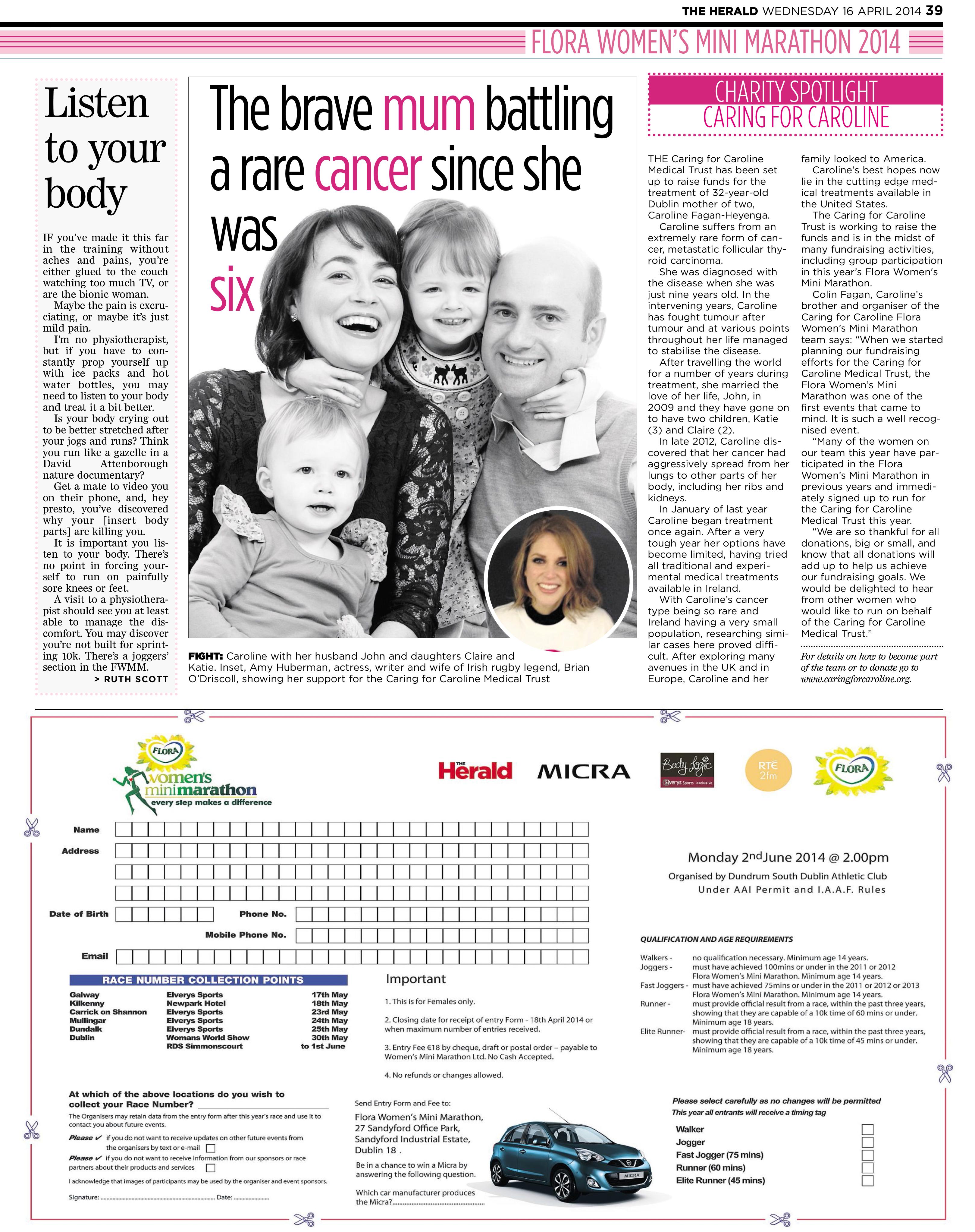 Evening Herald April 17th 2014