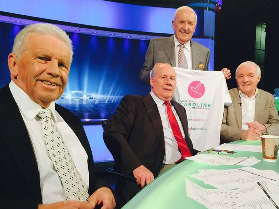 Bill O'Herlihy, Liam Brady, John Giles and Eamon Dunphy, RTE Sport Commentators