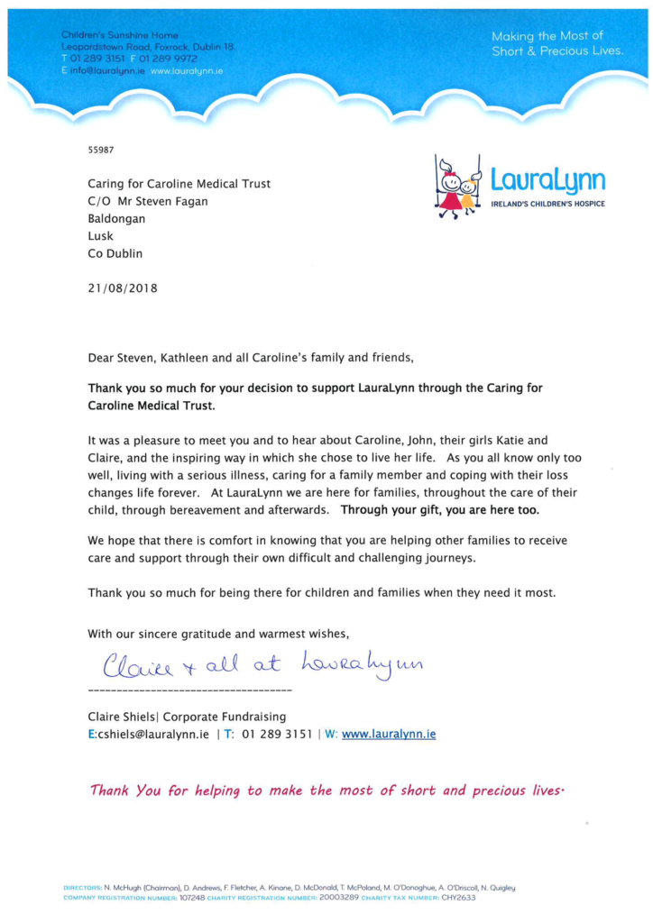 Caring For Caroline Laura Lynn